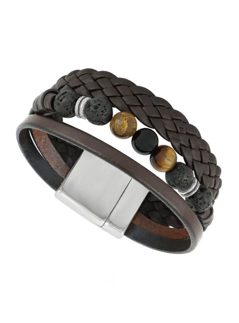 Bracelet Homme - Three Oeil de tigre - Elyon