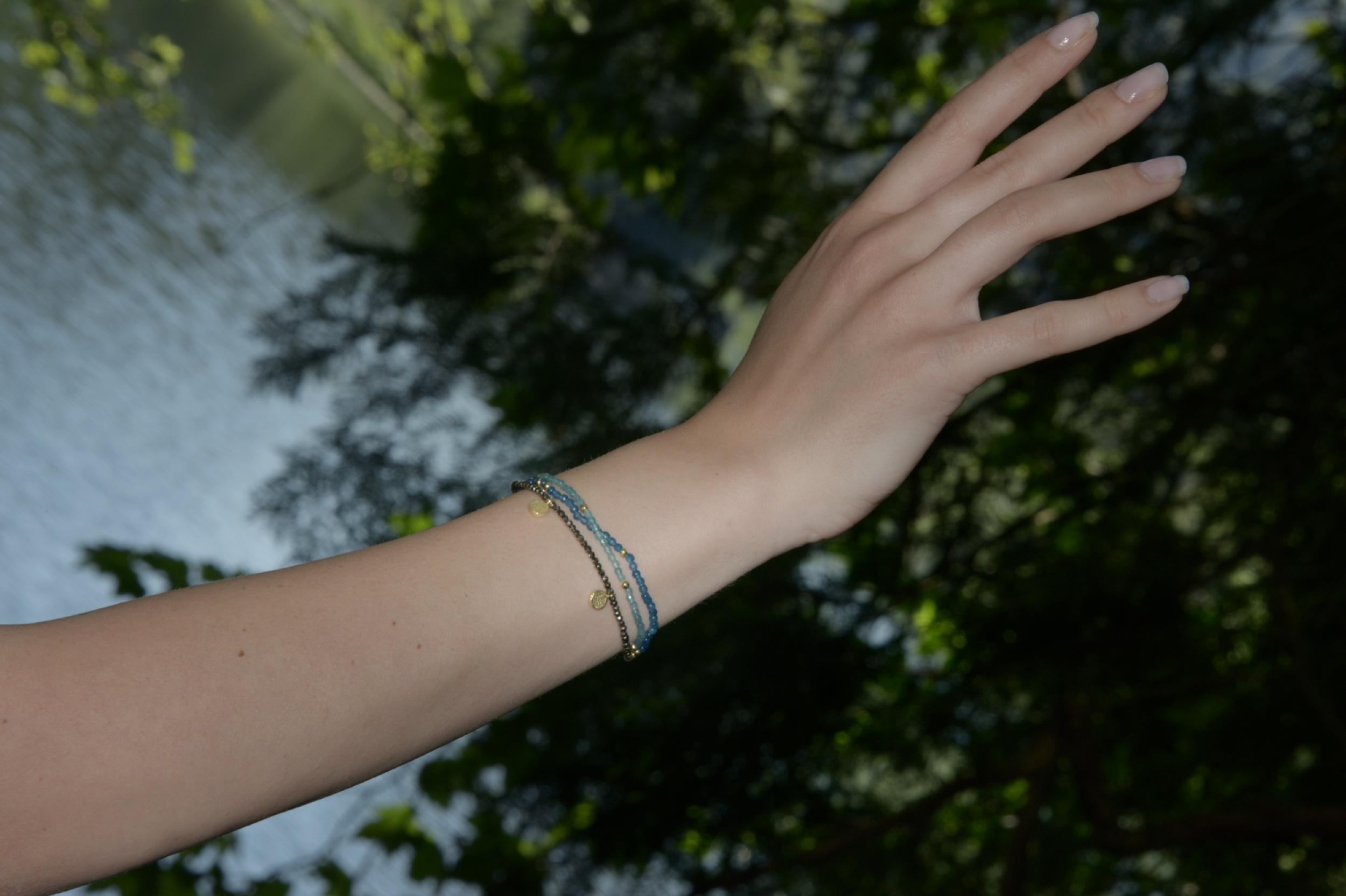 L'univers de Cybèle - Bracelet Aigue-marine